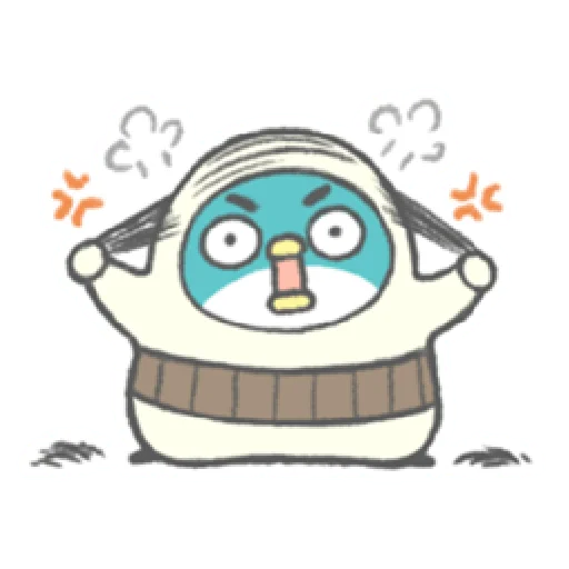 PP mini 小小企鵝 -小老頭 (1) - Sticker 11