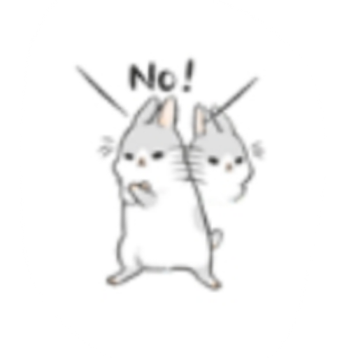 Rabbit-Yes/No/Dunno/Ok - Sticker 6