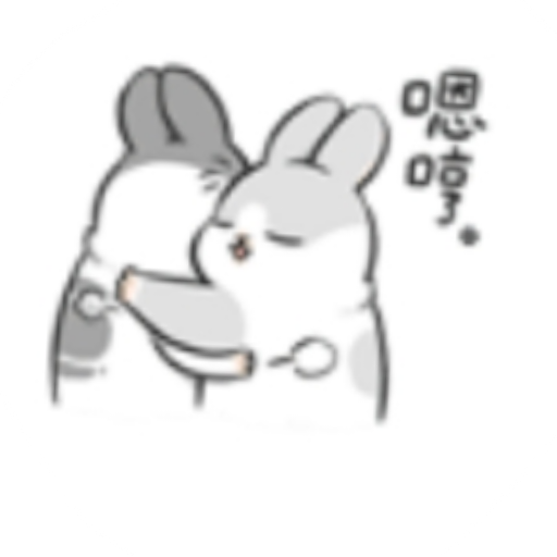 Rabbit-Yes/No/Dunno/Ok - Sticker 12