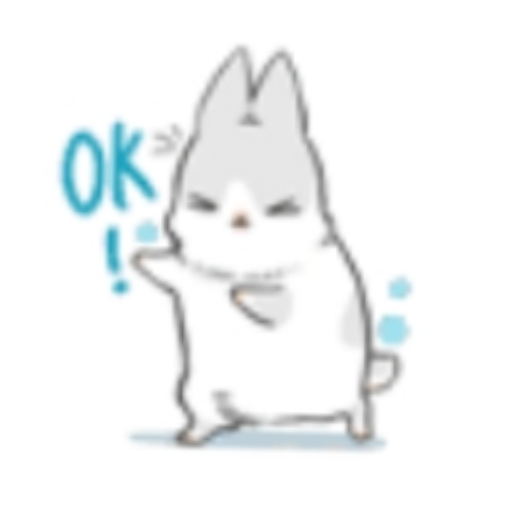 Rabbit-Yes/No/Dunno/Ok - Sticker 4