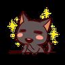 Black Cat - Tray Sticker