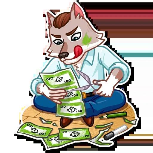 The Wolf - Sticker 7