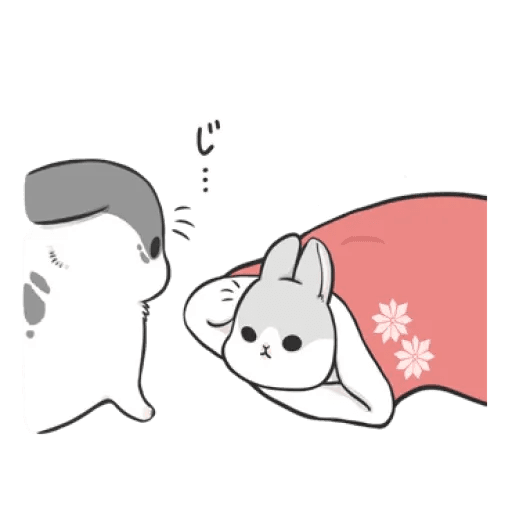 Rabbit Christmas - Sticker 3