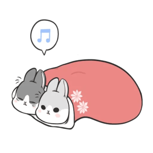 Rabbit Christmas - Sticker 4
