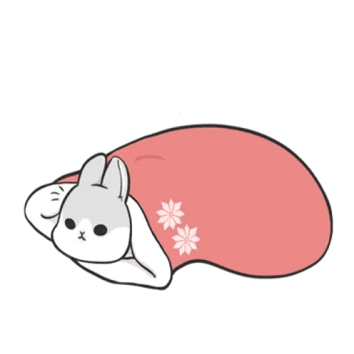 Rabbit Christmas - Sticker 2