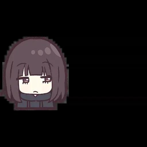 Menhera chan Emoji - Sticker 16