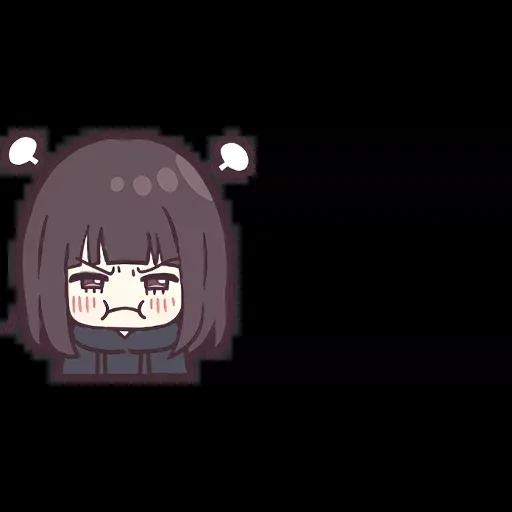 Menhera chan Emoji - Sticker 20