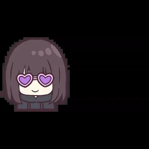 Menhera chan Emoji - Sticker 22