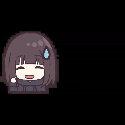 Menhera chan Emoji - Sticker 11