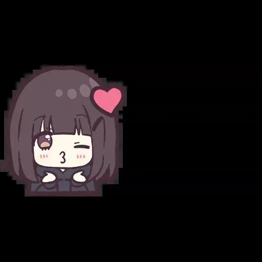 Menhera chan Emoji - Sticker 1