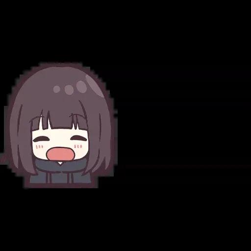 Menhera chan Emoji - Sticker 3