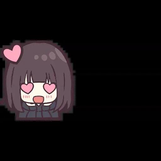 Menhera chan Emoji - Sticker 8