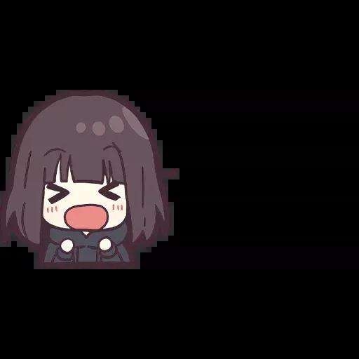 Menhera chan Emoji - Sticker 4