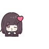 Menhera chan Emoji - Tray Sticker
