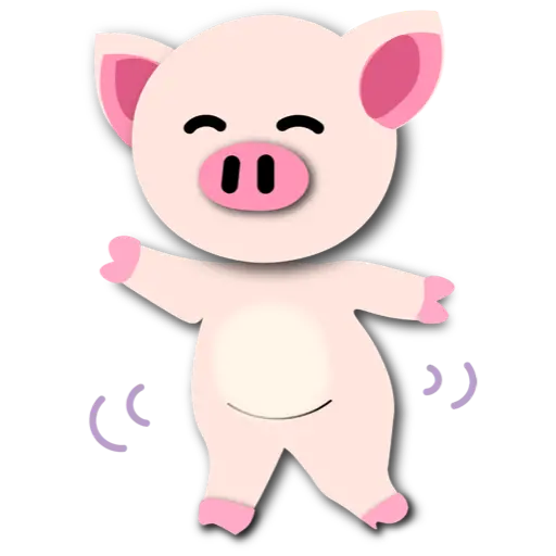 Piggie 豬 - Tray Sticker