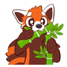 Red Panda - Tray Sticker