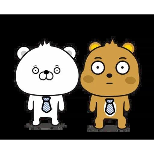傲嬌熊與白熊 - Sticker 8