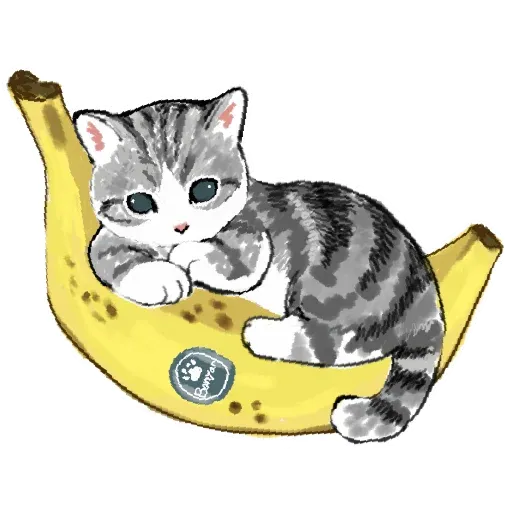 Bananacat - meong - Sticker 9