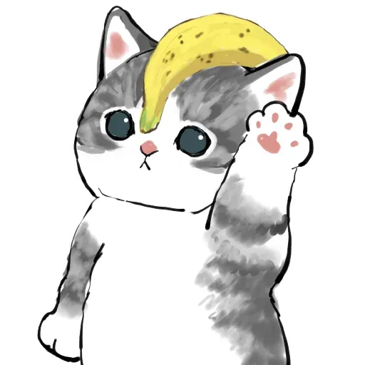 Bananacat - meong - Sticker 2