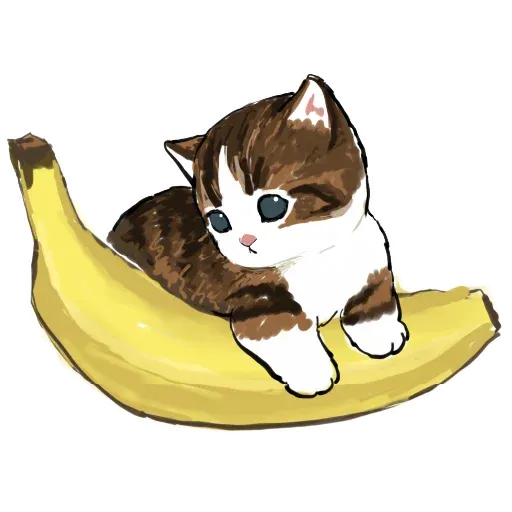 Bananacat - meong - Sticker 10