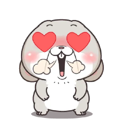 好想兔 - Meong - Sticker 4