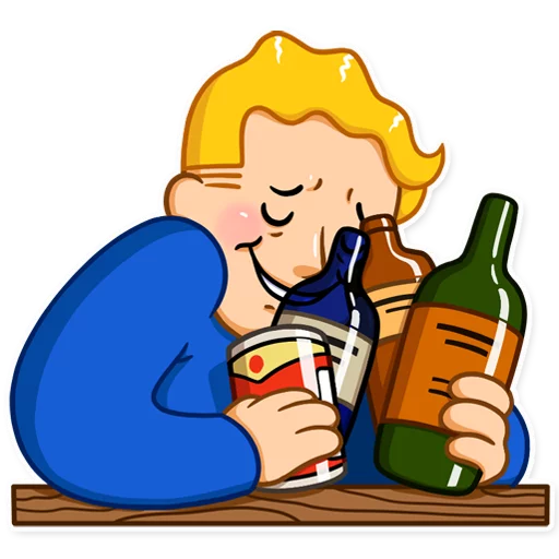 Unofficial Fallout Vault Boy (2/2) - Sticker 2