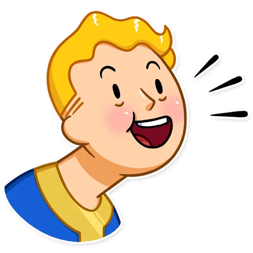 Unofficial Fallout Vault Boy (2/2) - Sticker 3