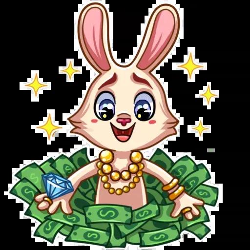 Gentle Rabbit - Sticker 24