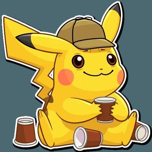 Pikachu Detective - Sticker 9
