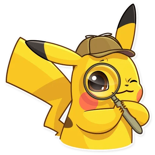Pikachu Detective - Tray Sticker