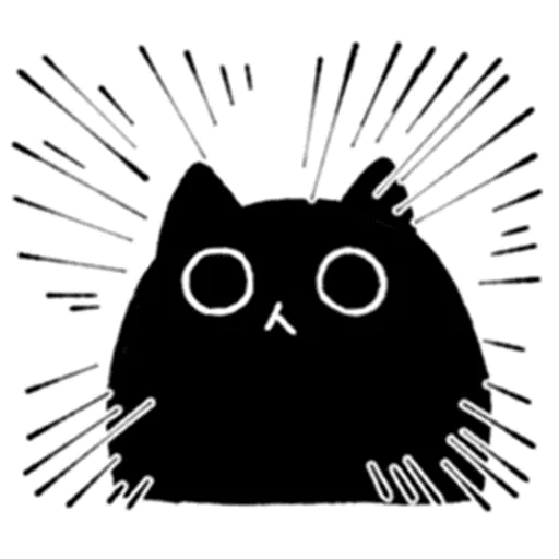 Kedama cat - Sticker 4