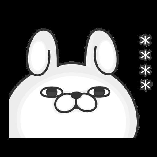 YOSISTAMP-兔兔100%隨你填 - Tray Sticker