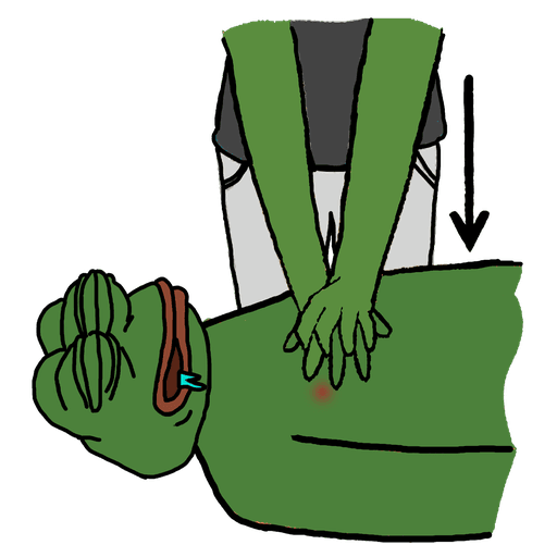 pepe cpr - Sticker 3