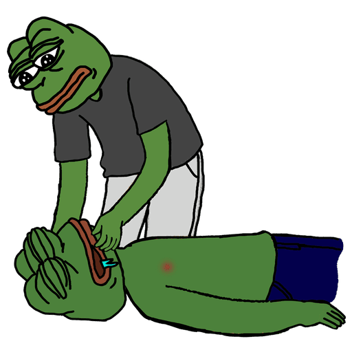 pepe cpr - Sticker 1
