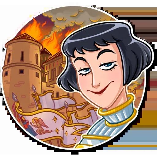 Joan of Arc - Tray Sticker