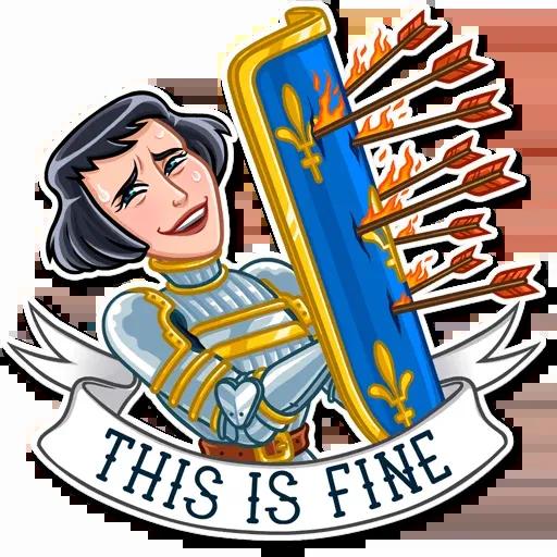Joan of Arc - Sticker 18