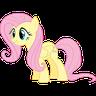 Fluttershy Pony - Tray Sticker