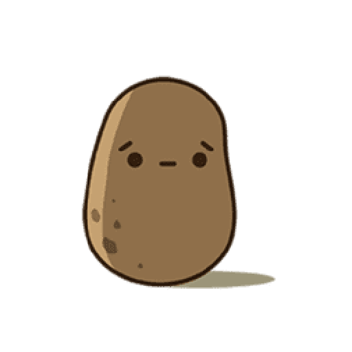 Kawaii Potato 2 - Sticker 3