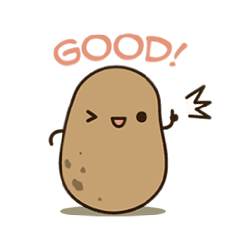 Kawaii Potato 2 - Sticker 11