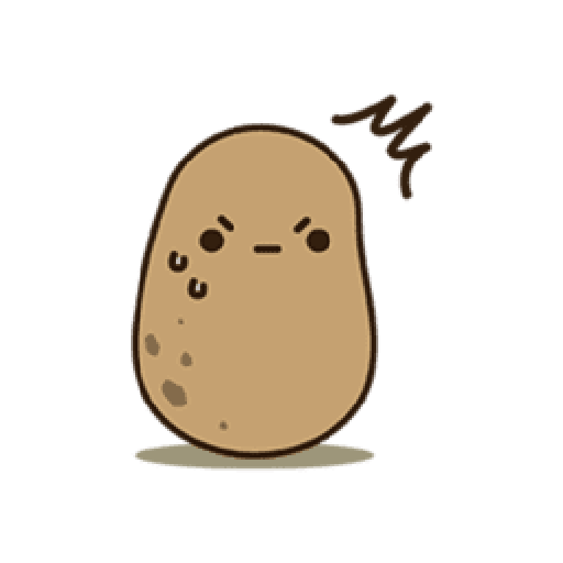 Kawaii Potato 2 - Sticker 4