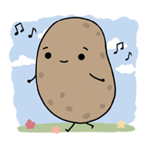 Kawaii Potato 2 - Sticker 25