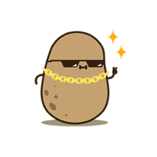 Kawaii Potato 2 - Sticker 16