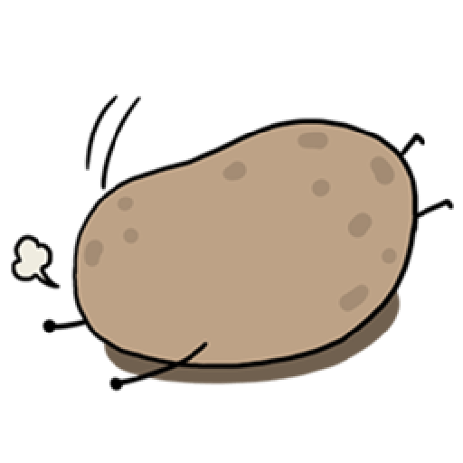 Kawaii Potato 2 - Sticker 24
