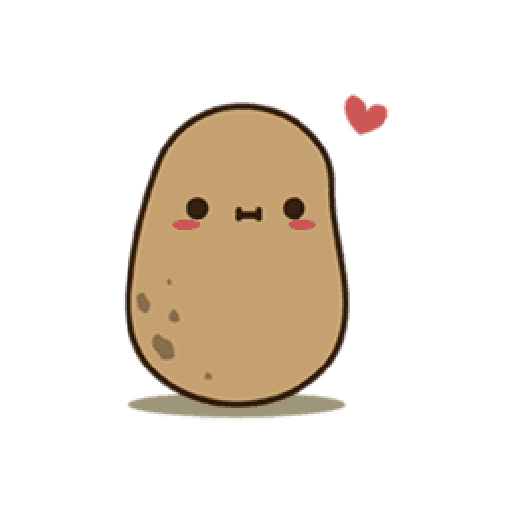 Kawaii Potato 2 - Sticker 5