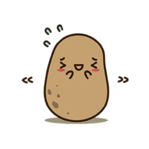 Kawaii Potato 2 - Sticker 12