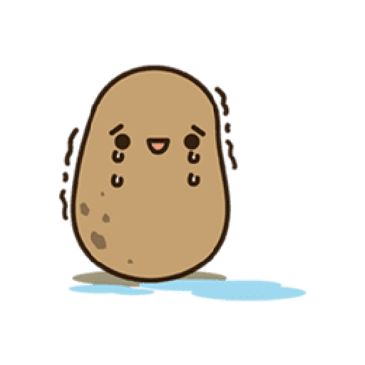 Kawaii Potato 2 - Sticker 8