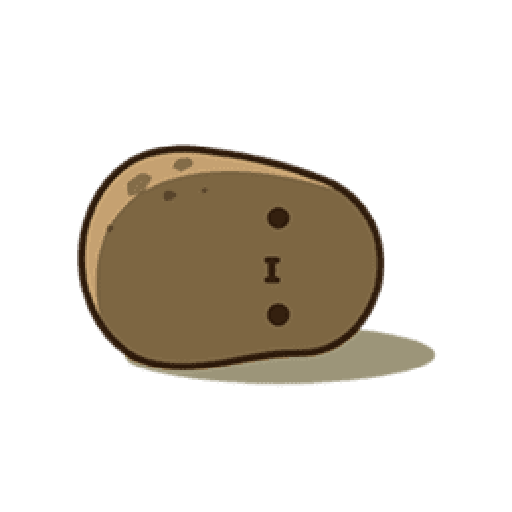 Kawaii Potato 2 - Sticker 7