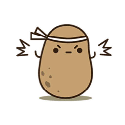 Kawaii Potato 2 - Sticker 9
