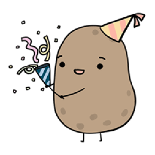 Kawaii Potato 2 - Sticker 22