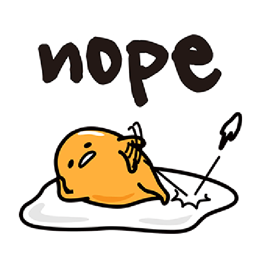 Gudetama - Sticker 22